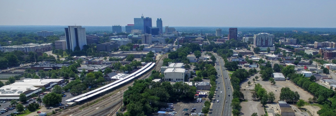Aerial image of downtown Raleigh