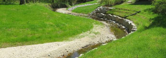 A repaired stream on Petworth Court