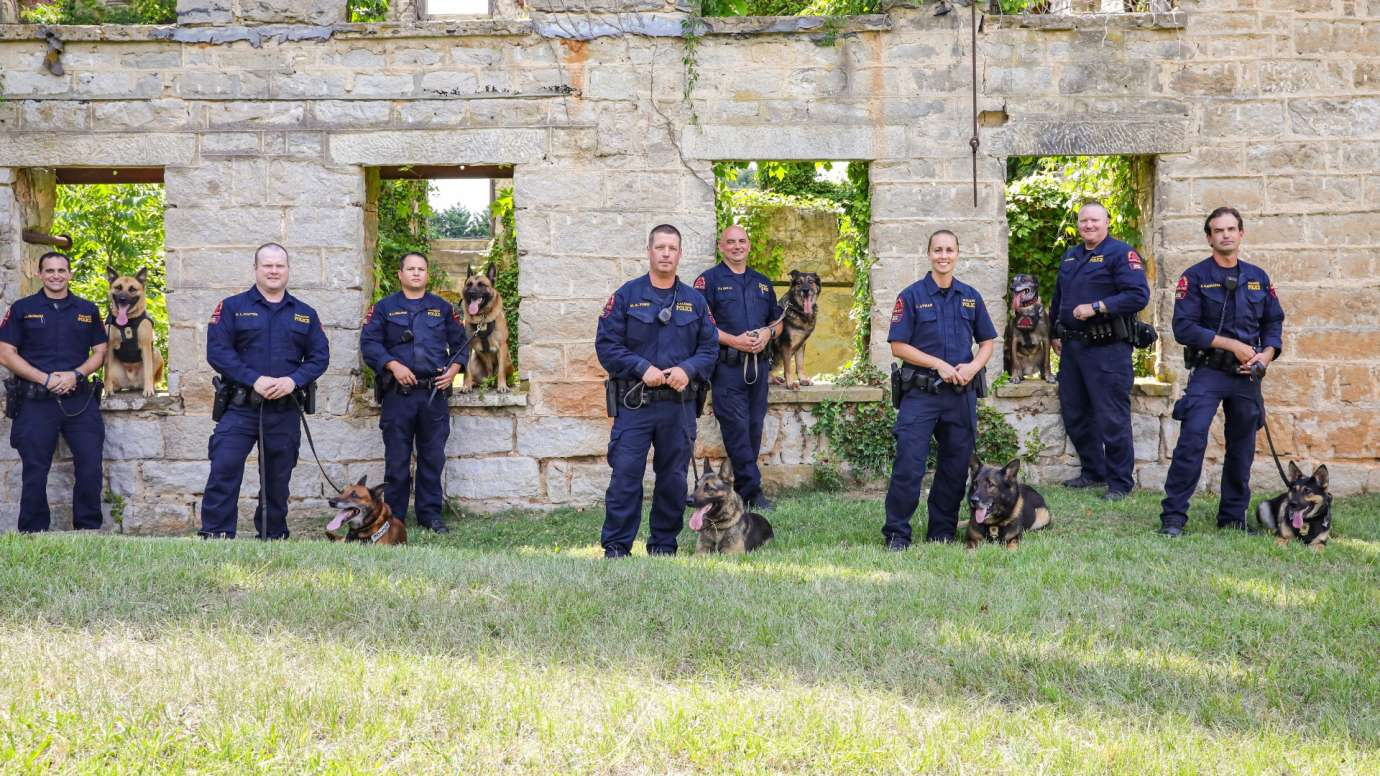 Raleigh Police Department k9 unit group photo