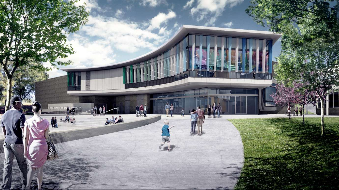 Design rendering of the future John Chavis Memorial Park community center