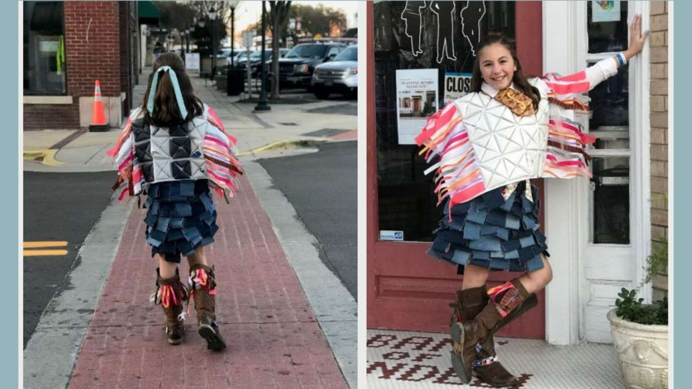 Trashion Competition First Place Winner (High School Competition) Margaret Ann Andrews